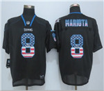 Tennessee Titans #8 Marcus Mariota Elite Black USA Flag Fashion Jersey