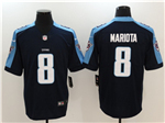 Tennessee Titans #8 Marcus Mariota Navy Blue Vapor Untouchable Limited Jersey