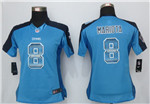 Tennessee Titans #8 Marcus Mariota Women Light Blue Pro Line Fashion Strobe Jersey