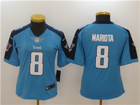 Tennessee Titans #8 Marcus Mariota Women's Light Blue Vapor Untouchable Limited Jersey