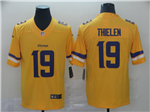 Minnesota Vikings #19 Adam Thielen Gold Inverted Limited Jersey