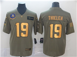 Minnesota Vikings #19 Adam Thielen 2019 Olive Gold Salute To Service Limited Jersey