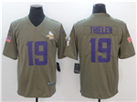 Minnesota Vikings #19 Adam Thielen 2017 Olive Salute To Service Limited Jersey