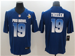 NFC Minnesota Vikings #19 Adam Thielen Blue 2019 Pro Bowl Game Jersey
