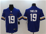 Minnesota Vikings #19 Adam Thielen Purple Vapor Untouchable Limited Jersey