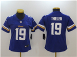 Minnesota Vikings #19 Adam Thielen Women's Purple Vapor Untouchable Limited Jersey