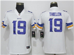 Minnesota Vikings #19 Adam Thielen Women's White Vapor Untouchable Limited Jersey
