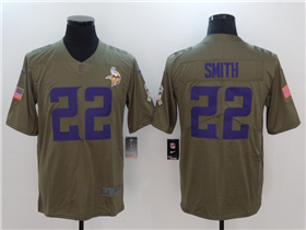 Minnesota Vikings #22 Harrison Smith 2017 Olive Salute To Service Limited Jersey
