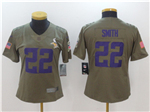 Minnesota Vikings #22 Harrison Smith Women's Olive Salute To Service Limited Jersey