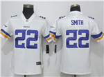 Minnesota Vikings #22 Harrison Smith Women's White Vapor Untouchable Limited Jersey