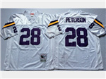 Minnesota Vikings #28 Adrian Peterson Throwback White Jersey