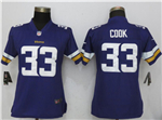 Minnesota Vikings #33 Dalvin Cook Women's Purple Vapor Untouchable Limited Jersey
