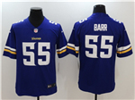 Minnesota Vikings #55 Anthony Barr Purple Vapor Untouchable Limited Jersey