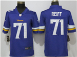 Minnesota Vikings #71 Riley Reiff Purple Vapor Untouchable Limited Jersey