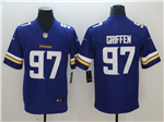 Minnesota Vikings #97 Everson Griffen Purple Vapor Untouchable Limited Jersey