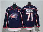 Columbus Blue Jackets #71 Nick Foligno Youth Navy Blue Jersey