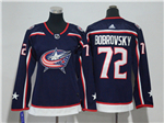 Columbus Blue Jackets #72 Sergei Bobrovsky Women's Navy Blue Jersey