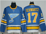 St. Louis Blues #17 Jaden Schwartz 2017 Winter Classic Light Blue Jersey