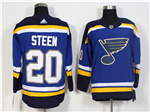 St. Louis Blues #20 Alexander Steen 2017/18 Home Blue Jersey