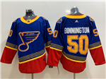 St. Louis Blues #50 Jordan Binnington Blue Vintage Jersey