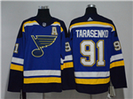 St. Louis Blues #91 Vladimir Tarasenko 2017/18 Home Blue Jersey
