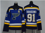 St. Louis Blues #91 Vladimir Tarasenko Women's Home Blue Jersey