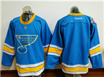 St. Louis Blues 2017 Winter Classic Light Blue Blank Jersey