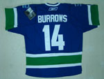 Vancouver Canucks #14 Alexandre Burrows Blue Jersey
