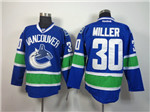 Vancouver Canucks #30 Ryan Miller Home Blue Jersey