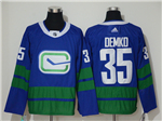 Vancouver Canucks #35 Thatcher Demko Alternate Blue Jersey