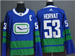 Vancouver Canucks #53 Bo Horvat Alternate Blue Jersey