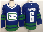 Vancouver Canucks #6 Brock Boeser Alternate Blue Jersey