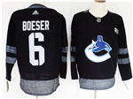 Vancouver Canucks #6 Brock Boeser Black 100th Anniversary Jersey