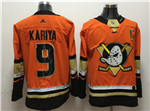 Anaheim Ducks #9 Paul Kariya 2017/18 Orange Jersey