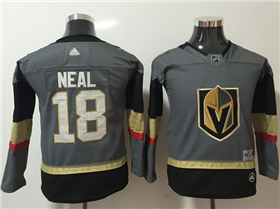 Vegas Golden Knights #18 James Neal 2017/18 Youth Gray Jersey