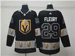 Vegas Golden Knights #29 Marc-André Fleury Black Team Logo Fashion Jersey