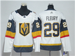 Vegas Golden Knights #29 Marc-André Fleury Women's White Jersey