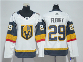Vegas Golden Knights #29 Marc-André Fleury 2017/18 Women's White Jersey