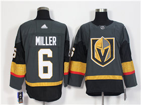 Vegas Golden Knights #6 Colin Miller 2017/18 Gray Jersey