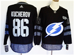 Tampa Bay Lightning #86 Nikita Kucherov Black 100th Anniversary Jersey