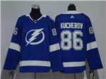 Tampa Bay Lightning #86 Nikita Kucherov Youth Blue Jersey