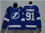 Tampa Bay Lightning #91 Steven Stamkos Youth Blue Jersey