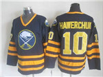 Buffalo Sabres #10 Dale Hawerchuk CCM Vintage Navy Blue Jersey