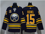 Buffalo Sabres #15 Jack Eichel 2017/18 Navy Jersey