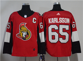 Ottawa Senators #65 Erik Karlsson 2017/18 Red Jersey