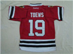 Chicago Blackhawks #19 Jonathan Toews Youth Home Red Jersey