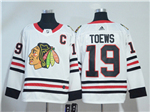 Chicago Blackhawks #19 Jonathan Toews White Jersey