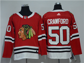Chicago Blackhawks #50 Corey Crawford 2017/18 Red Jersey