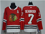 Chicago Blackhawks #7 Brent Seabrook 2017/18 Red Jersey