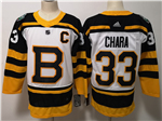 Boston Bruins #33 Zdeno Chara White 2019 Winter Classic Jersey